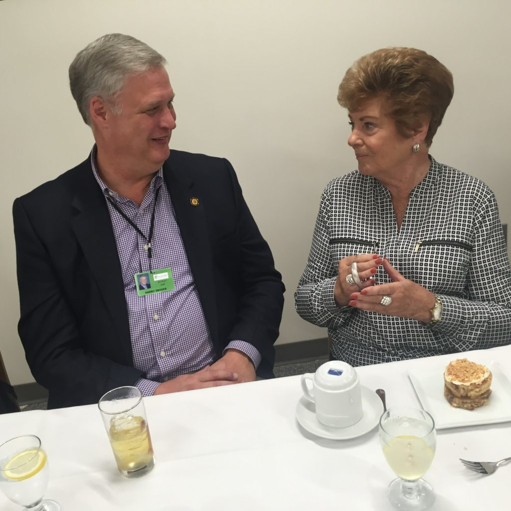CEO Harry Snyder (R) and Dr. Rosemary Kolde (L)